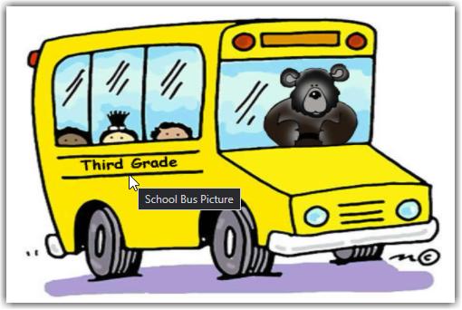 A bear driving a school bus of third graders?